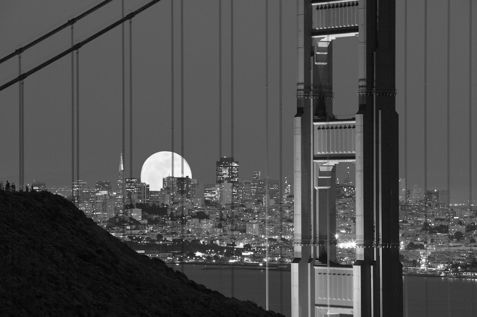Christopher Erin | Full Moon Over San Francisco Study