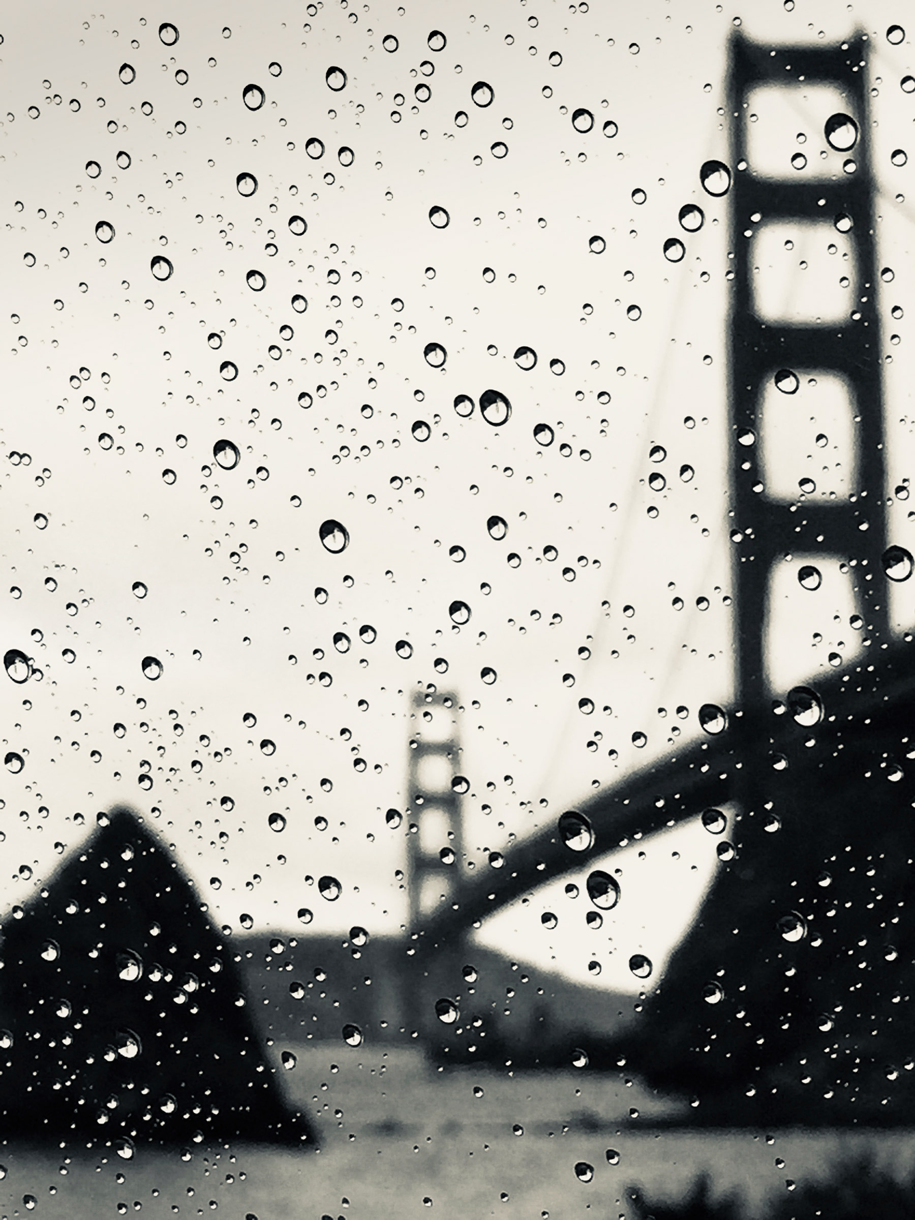 Heather Summerz | Golden Gate Raindrops Silvertone