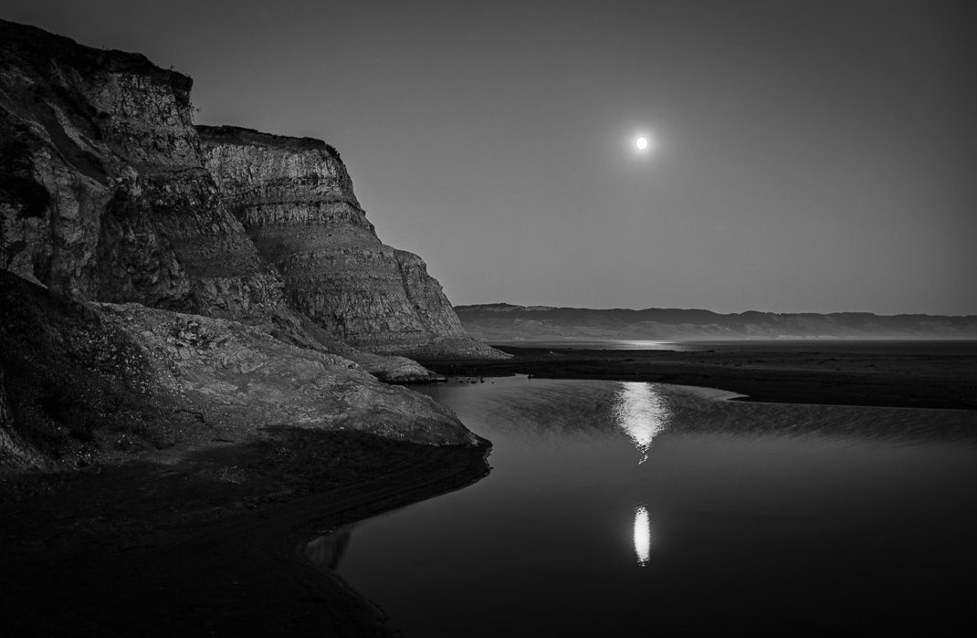 Marty Knapp | Reflecting Moon, Drakes Beach | Point Reyes Station, CA | 2014